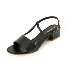 Giày cao gót Erosska thời trang mũi vuông phối dây kiểu dáng thanh lịch cao 3cm EM031 (màu đen)