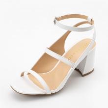 Giày nữ, giày cao gót Erosska phối dây thời trang thanh lịch cao 7cm - EB013 (trắng)