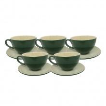 Combo 5 tách cà phê Capuccino 280ml (các màu)