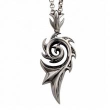 Dây chuyền cánh rồng hình xoắn ốc hợp kim mạ bạc - Ngọc Quý Gemstones