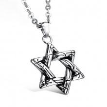 Dây chuyền mặt ngôi sao 6 cánh hợp kim mạ bạc - Ngọc Quý Gemstones