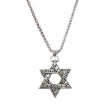 Dây chuyền hợp kim mạ bạc mặt ngôi sao 6 cánh - Ngọc Quý Gemstones