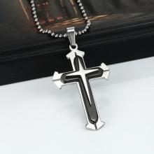 Dây chuyền mặt thánh giá hợp kim mạ bạc 60cm - Ngọc Quý Gemstones