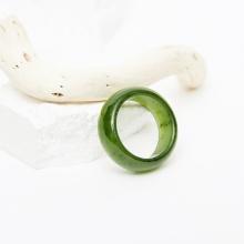 Nhẫn nam ngọc bích size 20 mệnh mộc hỏa - Ngọc Quý Gemstones