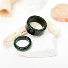 Set nhẫn nam nữ đá cẩm thạch sơn thủy đk nữ 17mm, nam 19mm mệnh mộc hỏa - Ngọc Quý Gemstones