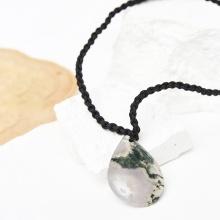 Mặt dây chuyền giọt nước băng ngọc thủy tảo 35x23mm mệnh mộc hỏa - Ngọc Quý Gemstones