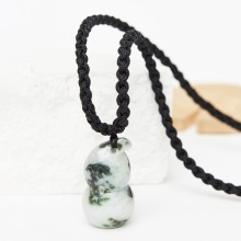 Mặt dây chuyền hình hồ lô đá cẩm thạch phỉ thúy 36x18mm mệnh mộc hỏa - Ngọc Quý Gemstones