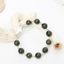Vòng chuỗi Mân Côi Rosary Bracelet đá thạch anh tóc xanh - Ngọc Quý Gemstones