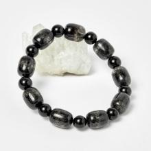 Vòng nam lu thống thạch anh tóc đen 14.5x11.2mm mệnh thủy, mộc - Ngọc Quý Gemstones