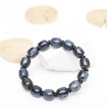 Vòng tay lu thống đá giông bão 53mm mệnh thủy mộc - Ngọc Quý Gemstones
