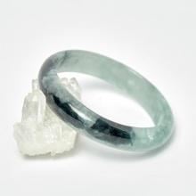 Vòng cẩm thạch xanh lý bản hẹ ni 54mm mệnh mộc hỏa - Ngọc Quý Gemstones