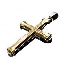 Dây chuyền mặt thánh giá hợp kim mạ vàng - Ngọc Quý Gemstones