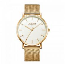 Đồng hồ nam dây kim loại chính hãng Julius Hàn Quốc JA-1164MF (vàng)