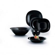 Bộ đồ dùng bàn ăn 12 món thủy tinh Luminarc Carine đen