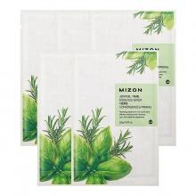 Set 5 miếng mặt nạ chiết xuất tinh chất thảo dược MIZON JOYFUL TIME ESSENCE MASK HERB