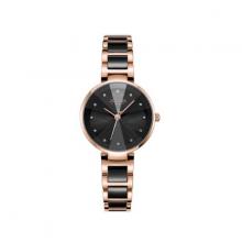 Đồng hồ nữ dây kim loại chính hãng Hàn Quốc JA-1209D đen