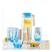 Bộ bình ly thủy tinh 5 món Luminarc Rotterdam Ice Blue Xanh