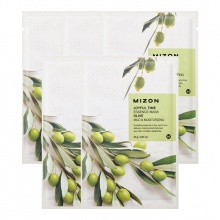 Set 5 miếng mặt nạ dưỡng da Tinh Chất dầu Olive Mizon Joyful Time Essence Mask - Olive