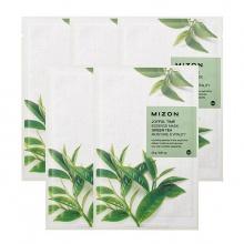 Set 5 miếng mặt nạ dưỡng da tinh chất trà xanh Mizon Joyful Time Essence Mask - Green Tea