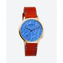 Đồng hồ thời trang unisex Erik von Sant 003.005.A họa tiết 3D dây da nâu cam 38mm