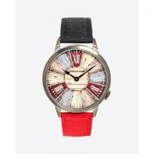 Đồng hồ thời trang unisex Erik von Sant 003.006.F mặt tròn chữ số la mã dây vải phối hai màu 38mm