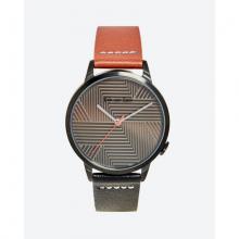 Đồng hồ thời trang unisex Erik von Sant 003.001.D mặt tròn họa tiết kẻ sọc phối dây hai màu 38m