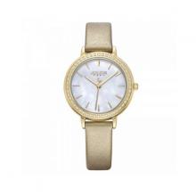 Đồng hồ nữ dây da Hàn Quốc JA-1036B vàng kem
