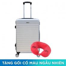 Vali chống trộm Trip PC911 size 50cm xám bạc (tặng 1 gối cổ màu ngẫu nhiên)