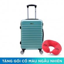 Vali nhựa Trip PC911 size 60cm 24 inch xanh ngọc (tặng gối cổ)