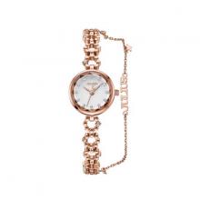 Đồng hồ nữ dây kim loại Hàn Quốc JS-036B đồng