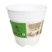 Chậu trồng cây để bàn cao cấp Minigarden Basic Pot S màu trắng nhập khẩu Châu Âu, tự hút nước và thoát nước