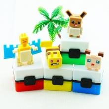 Combo 4 hộp đồ chơi trang trí tẩy gôm xếp hình lego Pokemon Legaxi