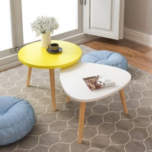 Combo bàn trà sofa vintage chân gỗ sồi