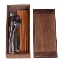 Hộp đựng đũa muỗng thìa bằng gỗ có nắp đậy Nhatvywood NV5312B - dành cho gia đình, nhà hàng, quán ăn cao cấp