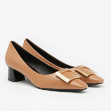Giày gót thấp Pazzion 1902-3 - BROWN