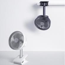Quạt điện kẹp bàn làm việc, bàn học, quạt di động có thể sạc pin, quạt tích điện Jisulife F7B