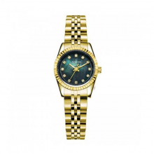 Đồng hồ nữ js-1069le Julius Hàn Quốc dây thép (vàng đen)