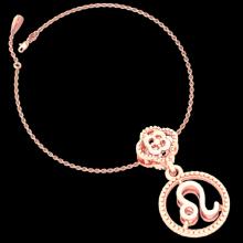 Mặt charm cung hoàng đạo Sư Tử vàng hồng 14K DOJI 0120P-LAL359-PG (không bao gồm dây)