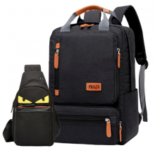 Combo túi đeo chéo unisex thời trang và balo laptop nam nữ có nhiều ngăn Praza - BL182DC106