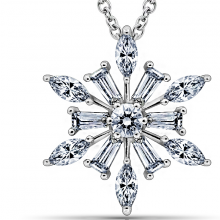 Dây chuyền Snow Queen Jadmire bạc 925 cao cấp mạ Platinum đính đá Swarovski trắng
