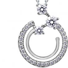Dây chuyền Journey of Stars Jadmire bạc 925 cao cấp mạ Platinum đính đá Swarovski trắng