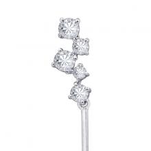 Hoa tai Glamour Drop Jadmire bạc 925 cao cấp mạ Platinum đính đá Swarovski trắng
