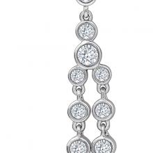 Hoa tai Falling Sparkles Jadmire bạc 925 cao cấp mạ Platinum đính đá Swarovski trắng