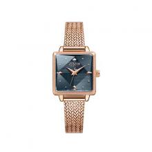 Đồng hồ nữ ja-1220d Julius Hàn Quốc dây thép (đồng mặt xanh đen)