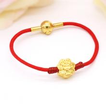 Vòng charm phong thủy hoa kim tiền vàng 24K DOJI CB60035-DDU