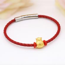 Vòng charm phong thủy hũ tiền vàng 24K DOJI CB60043-DDA