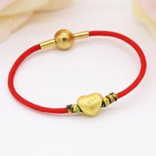 Vòng charm phong thủy trái tim vàng 24K DOJI CB60044-DDU