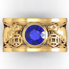 Nhẫn nam đá thạch anh tự nhiên mạ vàng 18k - RM01070