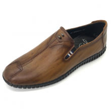 Giày mọi nam khâu đế da bò cao cấp Lucacy L286NN