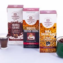 Combo cà phê pha phin Robusta + Arabica + Moka hộp 250g